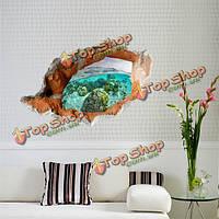 3D подводные наклейки мир настенные декорации съемный декор стикеров стены домой стена