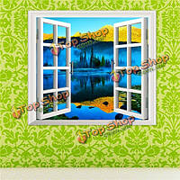 3D искусственный окно Вид на озеро Вид 3D наклейки для стен горы наклейки стены дома Декор подарок