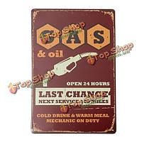 АЗС жестяная вывеска старинные металлические бляшки плакат Пивной бар дома стены декор