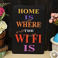 Wi-Fi листового металла рисования покраска металлов олова стены дома Декор плакат знак
