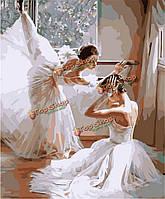 Цифровая картина маслом балета картины поделки нефти номера комплектов танцы бескаркасной холст домашнего декора стены 40x50cm