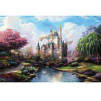 Цифровая картина маслом картина замок поделки нефти номера комплектов башни бескаркасных холст домашнего декора стены 40x50cm