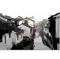 Китайский древних городов поделки номера комплект масляной живописи бескаркасных картины цифровой рисунок декора стен подарок 40x50cm