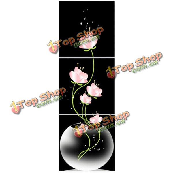 40x40см сочетание холст печати живопись 3шт цветы лотоса напечатаны на холсте домой стене лестничной площадки декора - ➊TopShop ➠ Товары из Китая с бесплатной доставкой в Украину! в Киеве