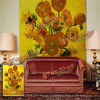 Подсолнечное жалюзи живопись Паг рольставни фоне стены окна декор занавес рисунок