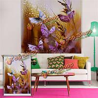 Бабочка жалюзи живопись Паг рольставни фоне стены декор окна рисования занавес