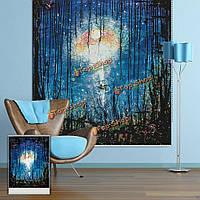 Вол декор стен занавес окна ночные эльфы рольставни печати картина рольставни фон