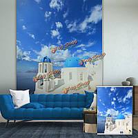 Вол средиземноморские рольставни печати картина рольставни фоне стены окна декор занавес