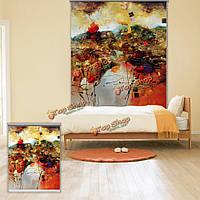 Паг декор стен занавес окна рольставни красочные абстрактной живописи рольставни фон