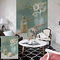 Вол стены окна декор занавес ваза рольставни печати картина рольставни фон