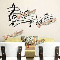 Искусство домашнего декора черная музыка примечание съемный стикер стены Наклейка обоев
