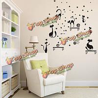 Кот стены стикер Детская комната обои искусство пропуск домой крытое украшение