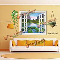 3D 110см окно просмотра пейзаж съемный стикер стены наклейки на стены росписи декора дома