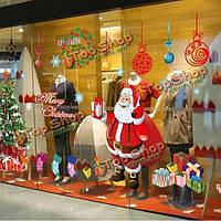 Рождество подарок Санта Клауса сменная стенная этикетка сделай сам стеклянная дверь домашнее художественное оформление