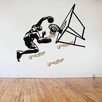 60X100см замочить баскетболист стикер стены съемный спортивный баскетбол переводная картинка номер домашнего декора стен