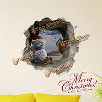 3-я рождественская снежная равнина снеговика стенная этикетка переводных картинок этикетки Пага домашний стенной подарок обстановки