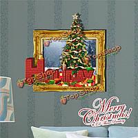 3-я праздничная картина рождественской елки стенная этикетка переводных картинок этикетки Пага домашний стенной подарок обстановки