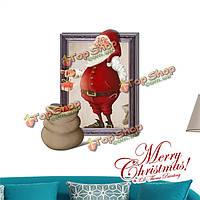 3D рождество Санта Клаус представляет стенную этикетку переводных картинок этикетки Пага домашний стенной подарок обстановки