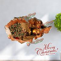 3-я печь рождественской елки стенная этикетка переводных картинок этикетки Пага домашний 3-й стенной подарок обстановки отверстия