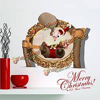 3D рождество Санта Клаус стенная этикетка переводных картинок этикетки Пага с Рождеством Христовым домашний стенной подарок обстановки