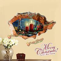 3-я рождественская свеча стенная этикетка переводных картинок этикетки Пага домашний стенной рождественский подарок обстановки отверсти