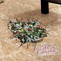 3-я рождественская елка представляет стенную этикетку переводных картинок снега этикетки Пага домашний подарок обстановки отверстия пола