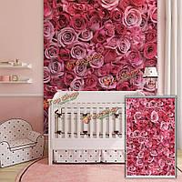 Вол розы романтический занавес окна рольставни печати роспись стены декора рольставни фона
