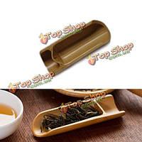 Натуральный бамбук чай совок ложка листья чая выбирающий держатель кунг чай Accessaries