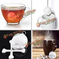 Прохладное ситечко черепа силикона infuser распылитель фильтра чая