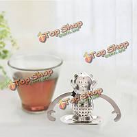 Из нержавеющей стали обезьяна регулируемой оружия чай листа стрейнер чая фильтр
