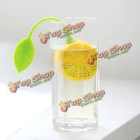 Лимон форма силиконовая рассыпной чай фильтр-ситечко шарик чайник