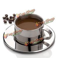 Нержавеющая сталь чашка кофе установлен двойной палубе чайная чашка европейский стиль чашка кофе