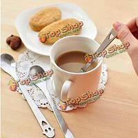 Сталь нержавеющая улыбка лицо ложка чайная ложка кофе кухонная утварь