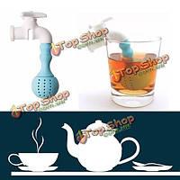 Силиконовые кран чай для заварки чая водопроводной воды фильтр фильтр листьев