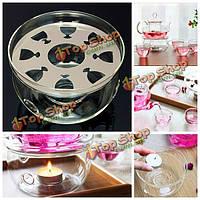 Жаропрочных прозрачное стекло круглый чайник теплее база чайник нагреватель