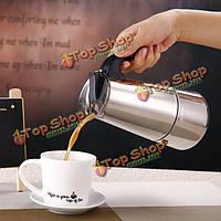 4 чашки 200мл из нержавеющей стали мокко эспрессо Latte перколатор плитой кофеварка горшок