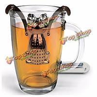 Лягушка из нержавеющей стали Вкладыш для заварки чая фильтр травяные специи сетчатый фильтр