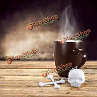 Кремния резиновый череп листьев чая ситечко для заварки чайник для заварки фильтр милый подарок