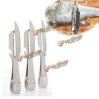 Кухня из нержавеющей стали легко чистит рыбу очиститель для удаления ножа очистки рыбьей кожи инструмент