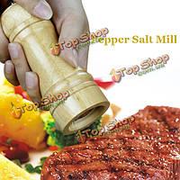 Деревянные дуб ручной перец соль мельница мясорубки специи перец соль мельница кухня приправа инструмент