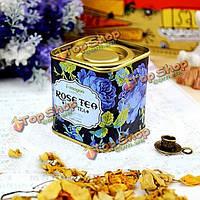 Европейская старинная цветочный чай жестяной коробке коробка конфет свадебный подарок случай
