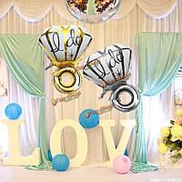 Большой Diamon кольцо из алюминиевой фольги воздушный шар я сделать предложение воздушные шары Валентина украшение свадебного банкета