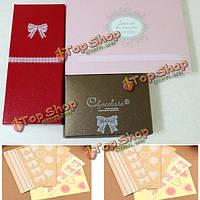 Прозрачная кружевная этикетка подарка свадебной вечеринки этикеток печати