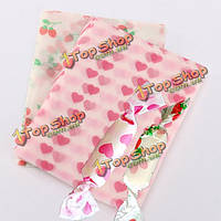 20шт конфеты сладкие оберточная бумага клубника в форме сердца конфеты упаковочной бумаги