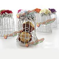 Клетка для птиц конфеты венчания коробки конфеты коробки подарка участнику сладкий шоколадный цветок метель коробка