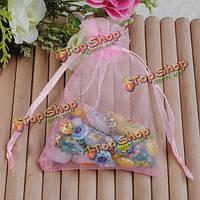 25шт розовый органзы подарок мешок подарка ювелирных изделий свадьбы пользу конфеты мешок упаковки