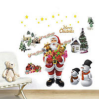 Рождество сменный веселый chrsitmas стенной оконный стикер домашнее художественное оформление
