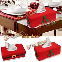 Рождественская коробка ткани ткани Санта Клауса покрывает рождественское художественное оформление держателя