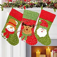 Рождество Санта Clau снеговик лось чулки висит мешок подарков рождественской вечеринки deocration