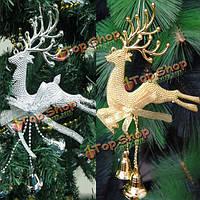 Пластиковые Рождество Рождественская елка висит оленей украшения рождественской вечеринки домой украшение